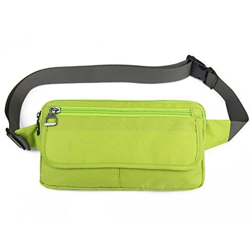 (Ultraslim Nylon Waterproof Stealth Outdoor Sports Travel Waist Bag Packs Green)