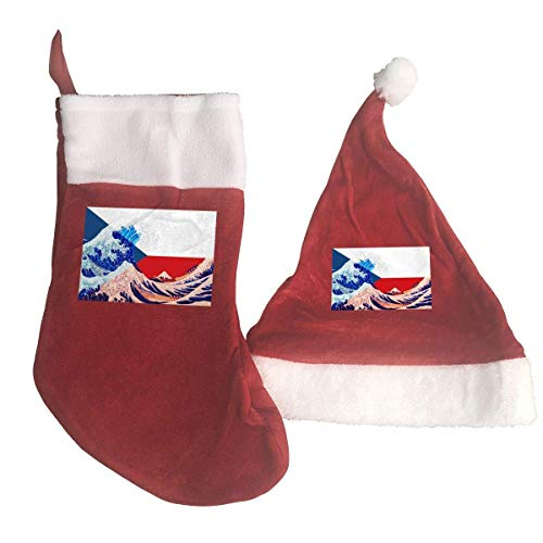 Czech Republic Flag and Wave Off Kanagawa Santa