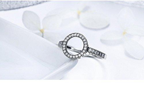 Amazon.com: Dixey Luxury Anillos Sortijas 18k de Compromiso Matrimonio Boda Oro Plata Anel De Prata 925 Joyeria Fina Para Mujer: Jewelry