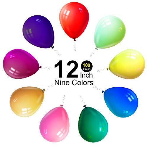 12 Inches Latex Balloons, Round Thickened Matte Assorted Colors Balloon for Party,Wedding Decorations, Birthdays, Bridal Shower, Valentine's Day,etc. -