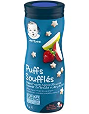 GERBER PUFFS Sweet Strawberry & Apple, Baby Snacks, Cereal Snack, 8+ months, 42 g, 6 Pack