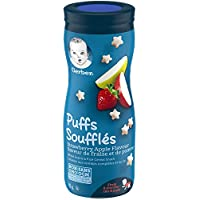 GERBER PUFFS, Strawberry Apple, Baby Snacks, 6 x 42 g (Pack of 6)