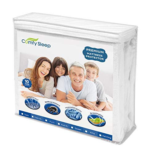 - Premium Bed Mattress Protector Topper For Any Size Cover - Twin, Full, Queen, California King, or King - Trusted Sheets Protection - Waterproof, Bed Bug Proof, Urine Proof - Hypoallergenic (FULL)