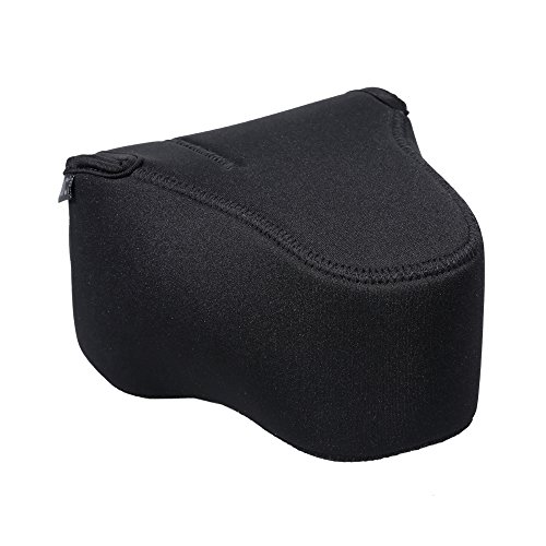 JJC Camera Case Pouch Bag for Canon T7/T6/T7i/T6i/T6s + 18-55mm Lens,Nikon D3500/D3400/D5600/D5500 + 18-55mm Lens,Fuji X-T3/X-T2 + 18-135mm/18-55mm Lens and Other Camera & Lens Below 5.6 x 3.9 x 6.0