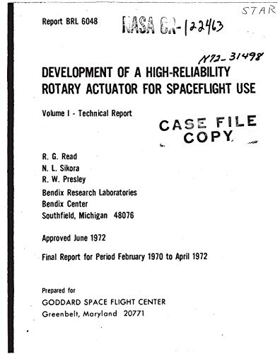 Development of a space qualified high reliability rotary actuator. Volume 1: Technical report