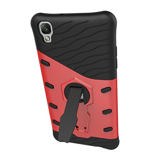 Para LG Personalized X With Holders A prueba de golpes 360 grados Rotating Tough TPU + PC Boxes YongYeYaoBEN ( Color : Red ) Red