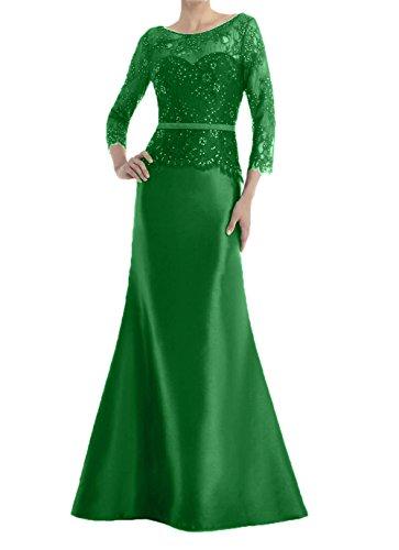 Grün Blau Meerjungfrau Royal Charmant Partykleider Brautmutterkleider Damen Abendkleider Lang Festlichkleider Spitze TxBnwaqv
