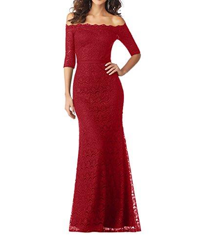 Spitze Rot Neu Meerjungfrau Damen Langes Festlichkleider Abendkleider Charmant Brautmutterkleider Partykleider Bodenlang qvUFtzwwaW