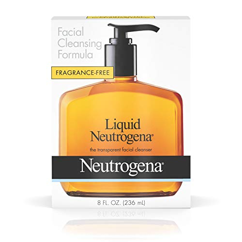 Liquid Neutrogena Fragrance-Free Facial Cleanser with Glycerin, Hypoallergenic & Oil-Free Mild Face Wash, 8 fl. oz Cleanser 8 Ounce Pump