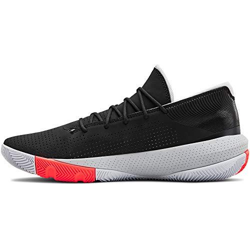 Under Armour Men's SC 3ZER0 III Basketball Shoe, Black (001)/Mod Gray, 12.5 M US