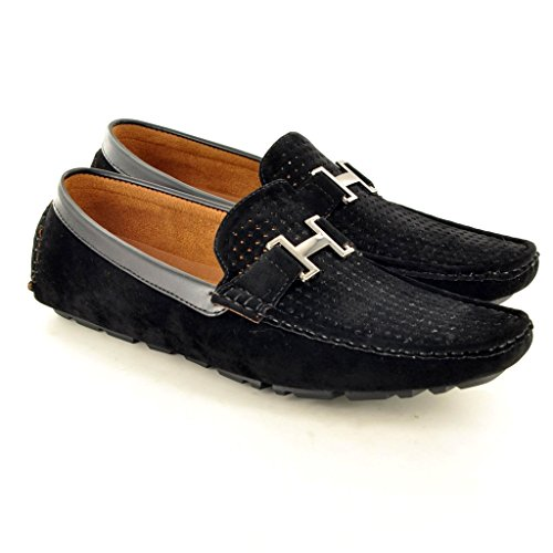 My Perfect Pair - Mocasines para hombre, color negro, talla 10 UK