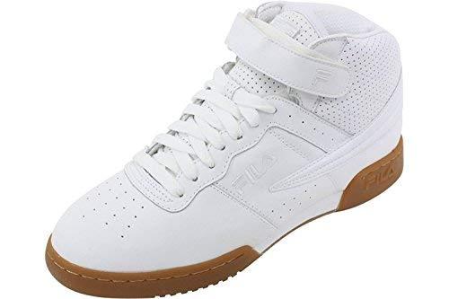 Fila Men's F-13 Vulc Sneakers White / White / Gum 11.5