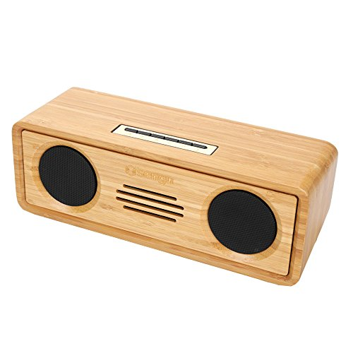 Sengu SG-S812-N Handmade Bamboo Portable Multimedia Wireless Bluetooth (Bamboo Unit)