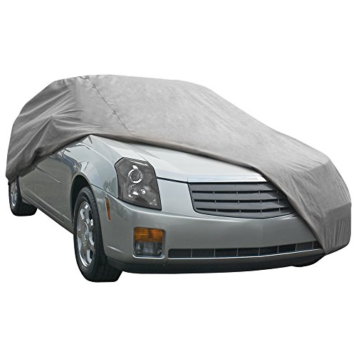 EmpireCovers EMP703 Waterproof Car Cover Fits 200-in L – (Gray)