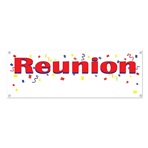 Reunion Sign Banner Party Accessory (1 count) (1/Pkg)]()