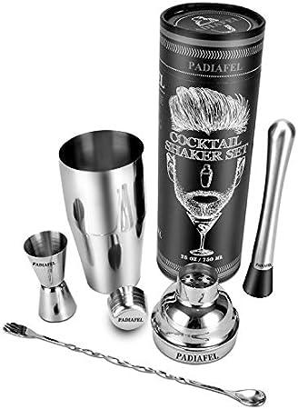 PADIAFEL - Coctelera de bar - Juego de accesorios para coctelera de cóctel (4 piezas)[Clase de eficiencia energética A+]