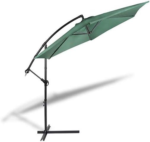 909 OUTDOOR Sombrilla Verde para Jardín y Exteriores, Parasol con inclinación Ajustable y pie de Apoyo, Cubierta de poliéster y Estructura metálica, 250 x 300 cm: Amazon.es: Jardín