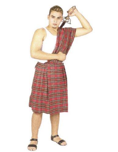Underwraps Men's Highland Brave, Red, One Size (Highland Brave Adult Costume)