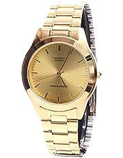 Casio Men's MTP1128N-9A Gold Gold Tone Quartz Watch with White Dial