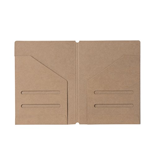 (2-Pack) Zipper Case & Kraft Folder Refill Inserts for Passport Size Travelers Notebook Photo #4