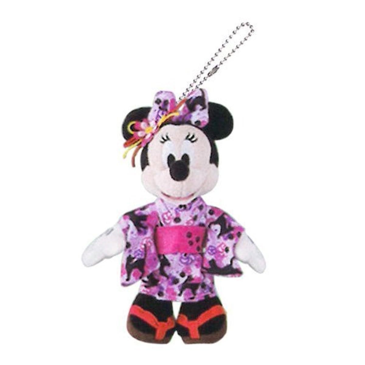 [해외] 미니 마우스 빅사이즈 봉제인형 배지 유카퍼터 일본옷 여름 축제【도쿄 디즈니 리조트 한정】