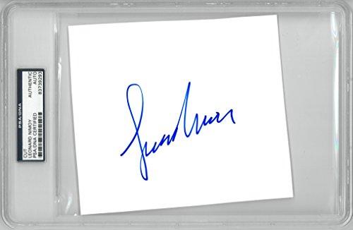 Leonard Nimoy Signed Star Trek Autographed Slabbed Cut Signature PSA/DNA