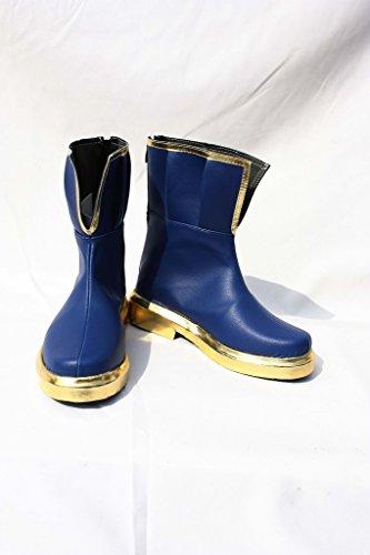 Puella Magi Madoka Magica Sayaka Miki Chaussures Bottes Sur Mesure Bleu Foncé