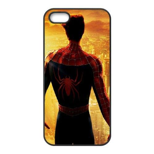 901 Spiderman L coque iPhone 5 5S cellulaire cas coque de téléphone cas téléphone cellulaire noir couvercle EOKXLLNCD21184