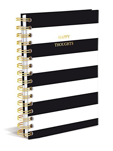 Graphique Classic Charm Hard Cover Journal w/ Elegant Black and White Stripes &