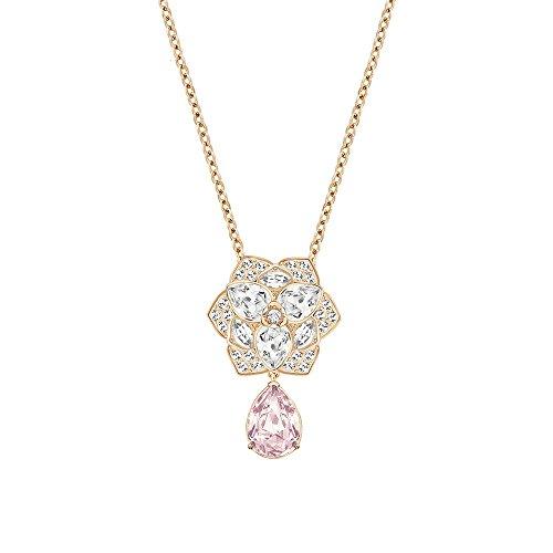 Swarovski Vintage Rose & Clear Crystal CARLEY PENDANT Rose Gold #5165561