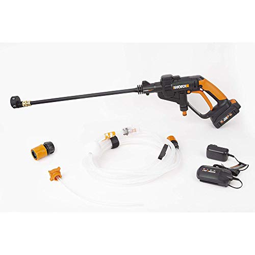 WORX WG625 20V Hydroshot Cordless Portable Power Cleaner, Black and Orange (Battery Operated Power Washer As Seen On Tv)