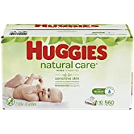 HUGGIES Natural Care Baby Wipes, 10 Packs, 560 Total Wipes