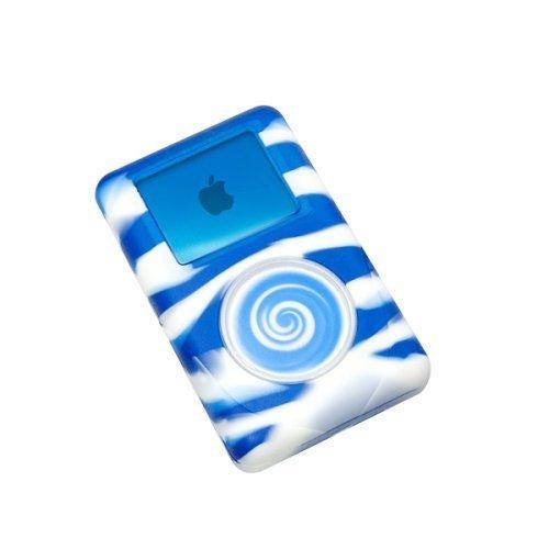 reEVOlutions iSkin eVo2 Silicone Skin Case for 20 GB iPod classic 4G (Wild Side Blue/White Swirl)