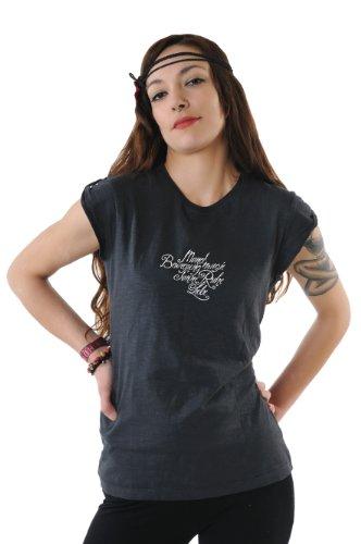de top hombro 3elfen con Cosma camiseta negro Lyric xHwIqwXB
