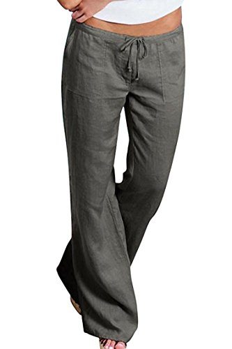 House Snowboard Pants (YLcabin pants Straight Leg Drawstring Loose Lounge Pants Long Bell Bottom Slacks,XXXX-Large,Grey)