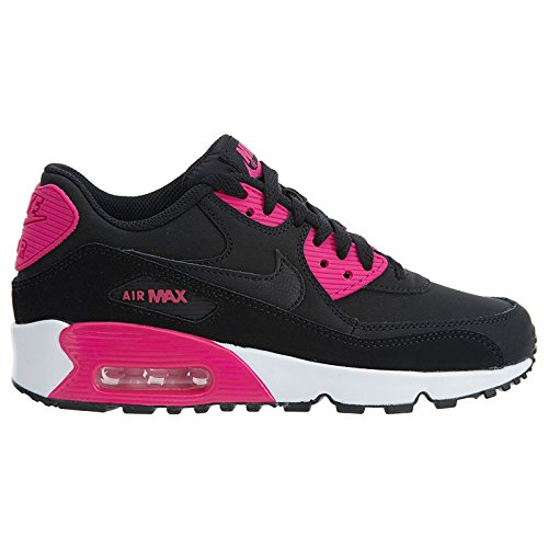 san francisco 67243 aec96 Galleon - NIKE Air Max 90 LTR(GS) Big Kids Shoes BlackPink PrimeWhite  833376-010 (6.5 M US)