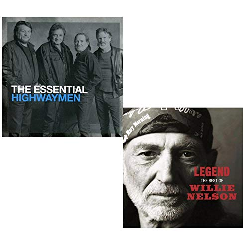 Essential Highwaymen (Greatest Hits) - Legend (Best Of) - Willie Nelson and Highwaymen Greatest Hits 2 CD Album Bundling (Willie Nelson Best Hits)