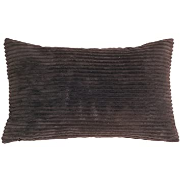 Dark Brown Throw Pillows.Pillow Decor Wide Wale Corduroy 12x20 Dark Brown Throw Pillow