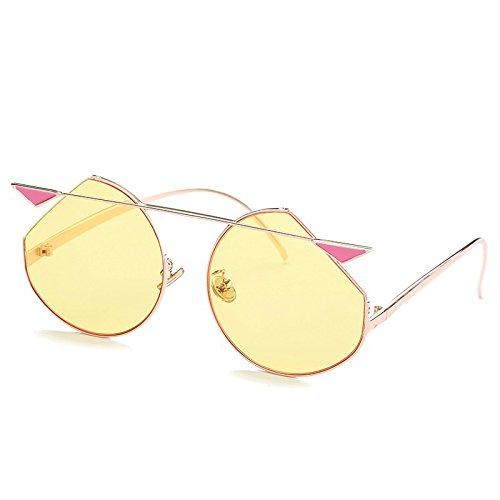 Manera de Sol Gato Gafas Ojo Sol de Gafas de al Gafas de Sol Aire 7 la Libre de de de Señora la Ruikey qxwt1zSnFz