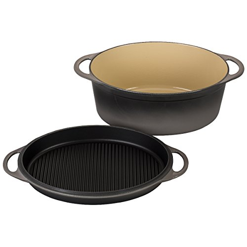 Le Creuset of America Cast Iron Cookware Oval Dutch Oven, 7.75Qt, Oyster by Le Creuset