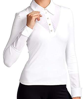 SkinnyShirt Women's Classic Long Sleeve Shirt X-Large White