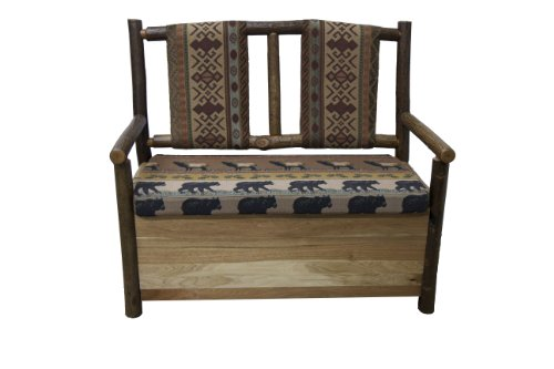 Kelly's Hickory Furniture Upholstered Loveseat with Storage Compartment