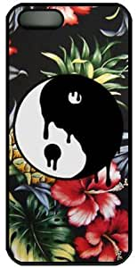 Yin and Yang and flower Hard Case Cover For iPhone 4/4S