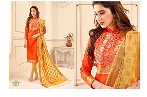 Readymade Party wear Blend Silk Banarasi Jacquard Kameez and dupatta with cigarette pant Indian Dress Salwar Suit