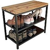 Banco Sapateira de Porta Organizador de Calçados Strassis Design SD-5003 Cor: Preto