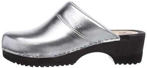 Clog Silber Donna Argento Zoccolo 11 3600 Flexibler silber zilver Da Gevavi 36 Bighorn t4AqI8F1