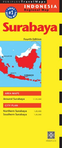 Surabaya Travel Map Fourth Edition (Periplus Travel Maps)