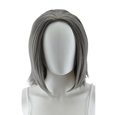 EpicCosplay 15  Helen Gunmetal Grey Multi-Part Skin Top Cosplay Wig (03GG)