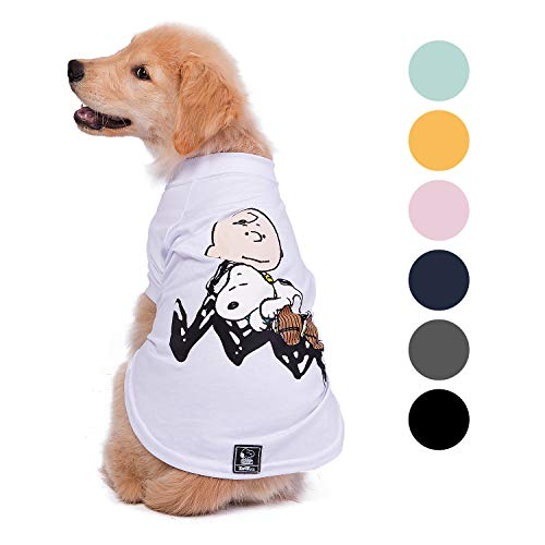 ZOOZ PETS Snoopy Dog Shirt – Official Snoopy Brand for Pets – Dog Shirts Lightweight & Breathable in 7 Different Unique…