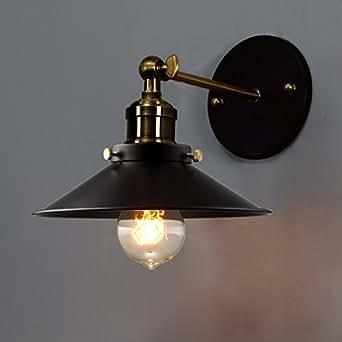 BAYCHEER jahrgang industriales lámpara de pared paraguas Vintage Loft Lámpara de pared pantalla befestigungen Retro Edison - Bombilla E27, 370836, E27, 40.00 wattsW, 230.00 voltsV